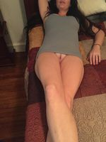 Hot wife upskirt no panties naked pussy