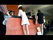 Candid Camera in Public Sexy Woman Upskirt