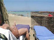Nudist Couple Masturbating at Beach and Making Sex