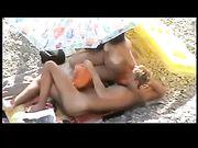 Naked Amateur Couple Sex on the Beach