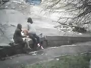 Couple Makes Sex in Public Place and a Girl Watches Them