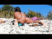 Hidden Voyeur Camera at Beach Nude Woman Pussy Filmed