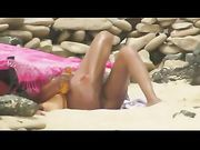 Nude Shaved Pussies and Sex at the Beach Filmed Voyeur