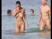 Nudist Couple Oral Sex on the Beach