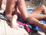 Mature amateur couple fucking freely at the beach