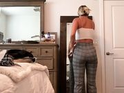 Spying on hot sister undressing